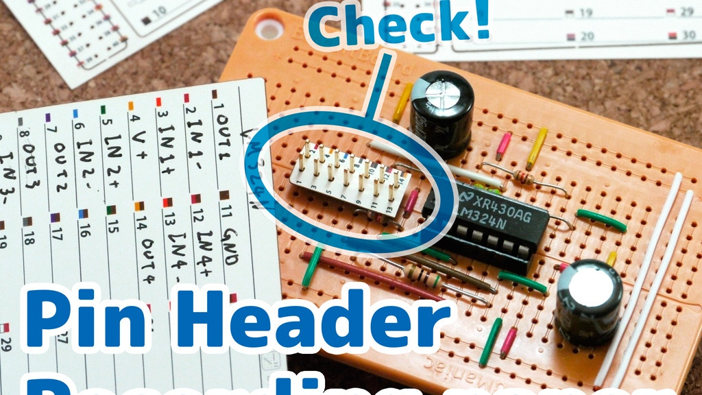 Project image for You no longer get lost: Pin Header Recording Paper