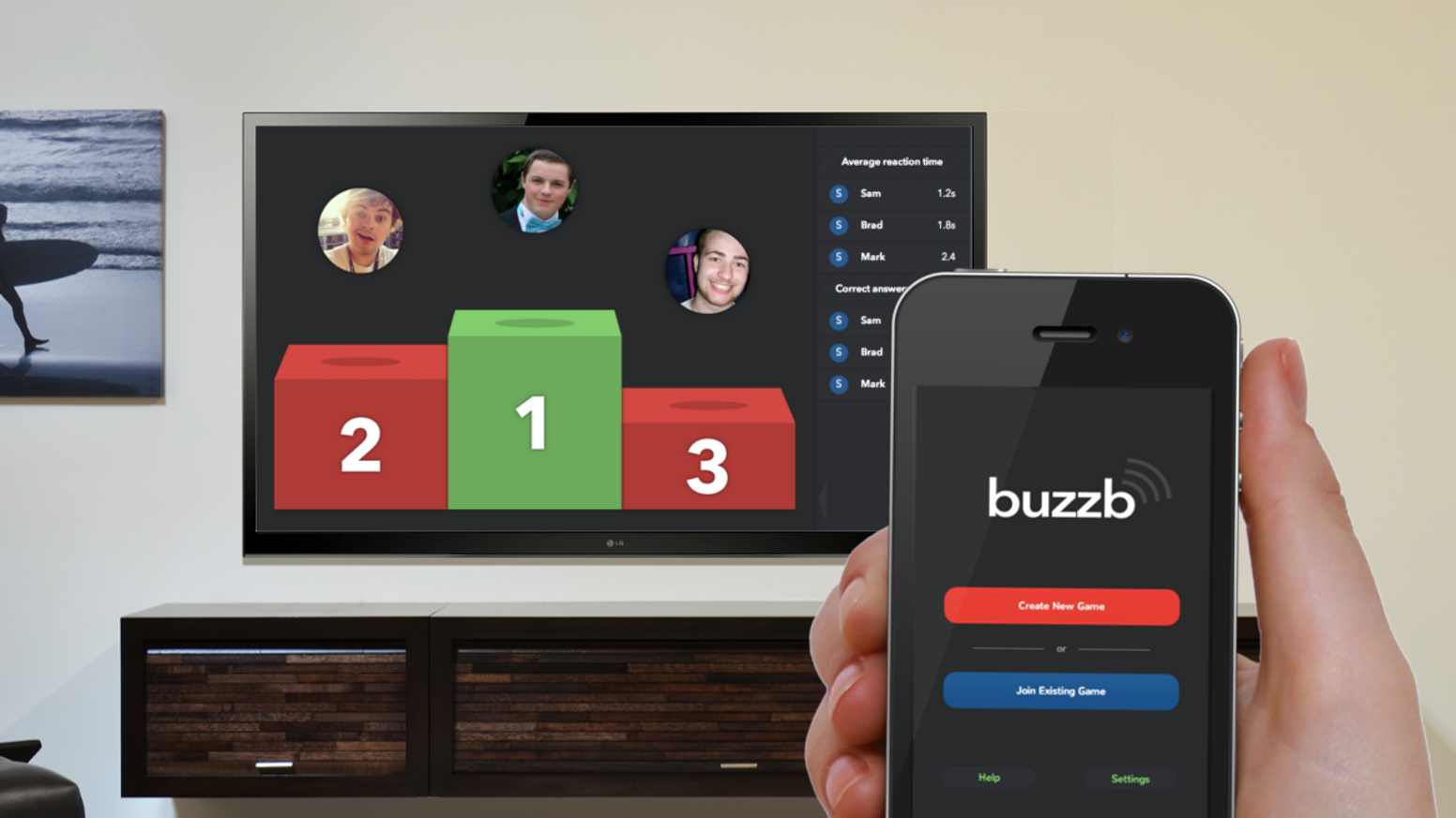 Buzzb. A Chromecast game for friends and family. by Concept96 — Kickstarter