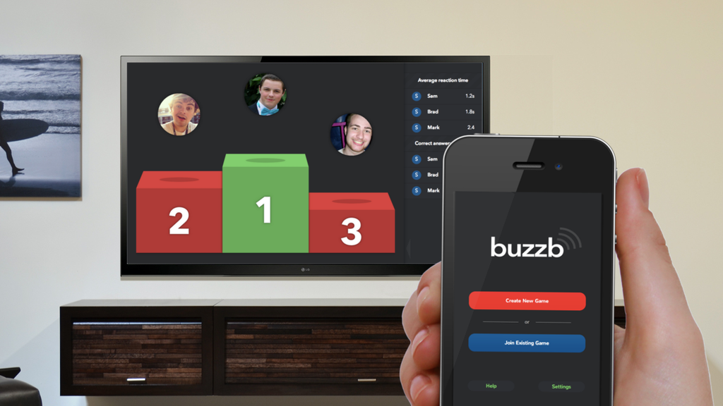 Buzzb. A Chromecast game for friends and family. project video thumbnail