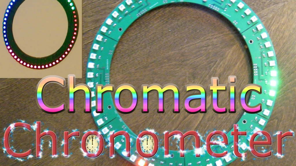 Chromatic Chronometer: A Rainbow LED Wall Clock project video thumbnail