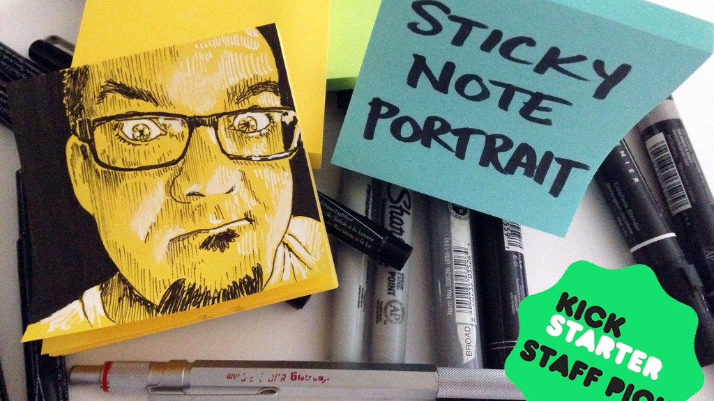 Sticky Note Portraits project video thumbnail