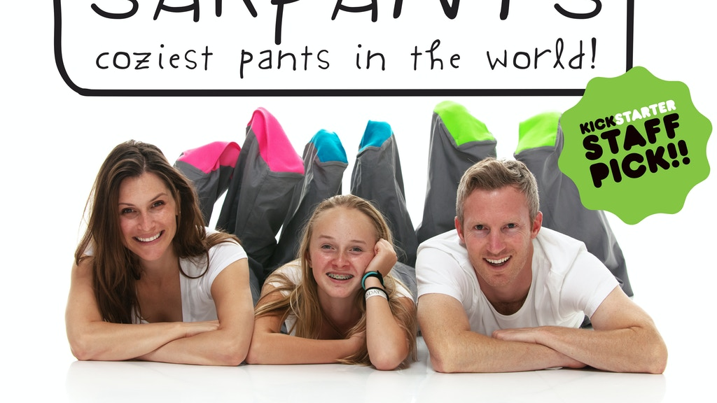 Sakpants! Coziest pants in the world! project video thumbnail