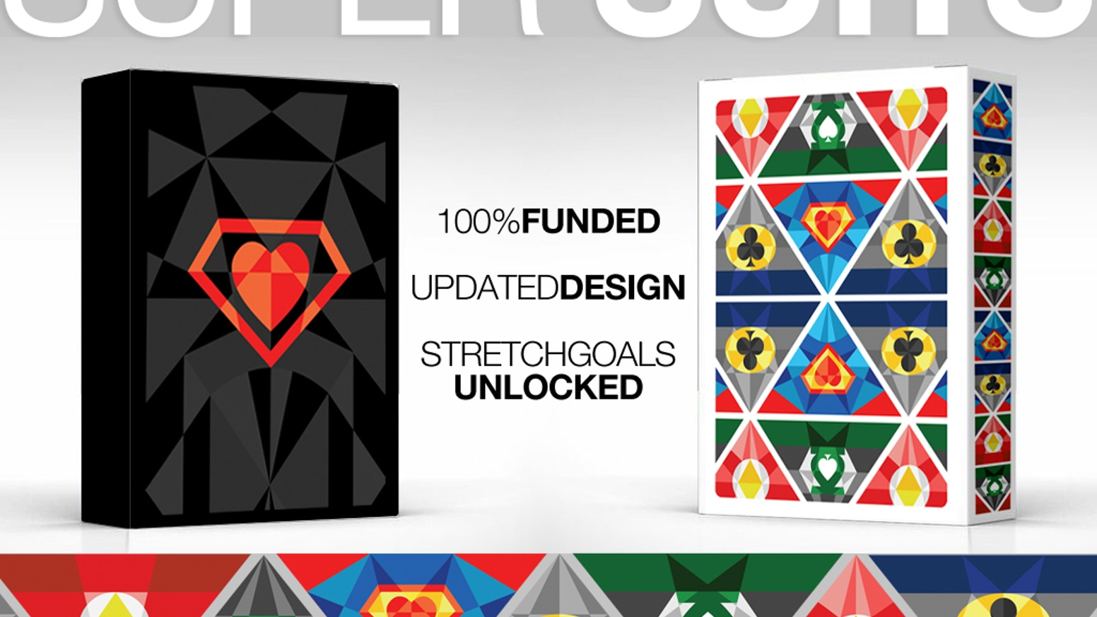 Super suits playing cards by undefined knowledge kickstarter a 54 card deck perfectly suited with the most heroic of symbols a critique biocorpaavc