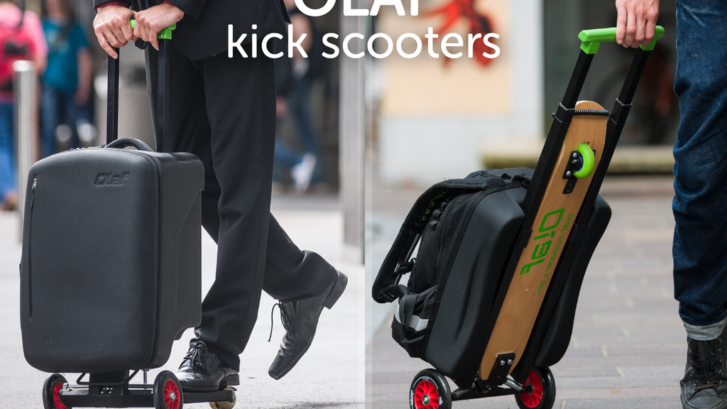 OLAF scooters - Multifunctional hybrid folding kick scooters project video thumbnail
