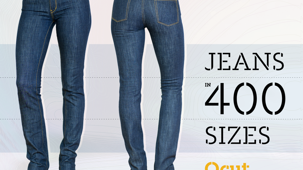 Women's Jeans in 400 Sizes : Made-to-Order by Qcut project video thumbnail
