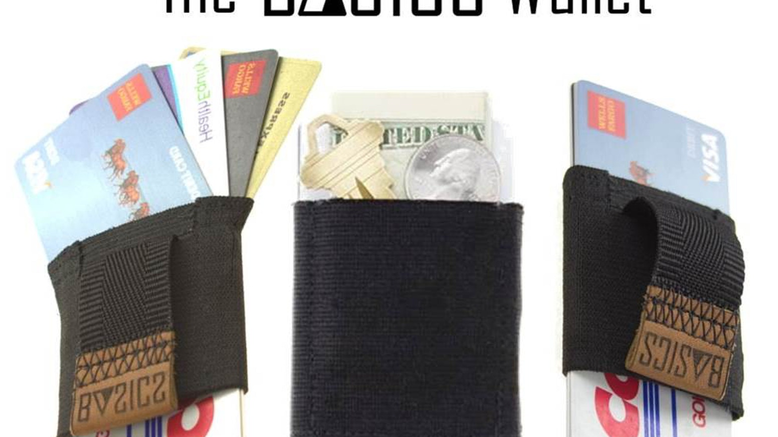 A pull-tab minimalist wallet that offers a slim profile and easy access to all your cards!