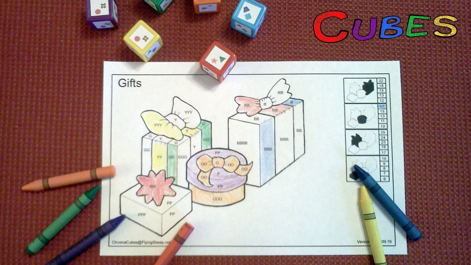 Chroma Cubes: A Color By Number Dice Game by Phillip Kilcrease ...