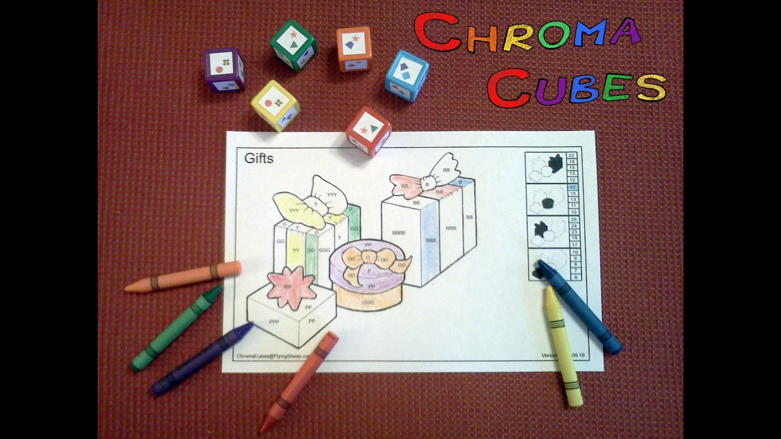 Game color by numbers - Chroma Cubes A Color By Number Dice Game