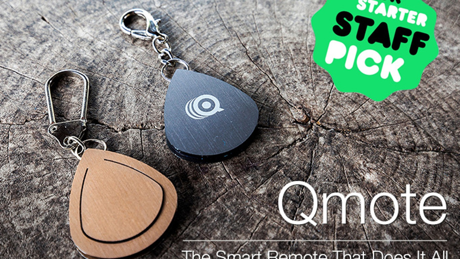 Qmote is an intuitive, single-button remote control which lets you perform actions on your phone, even when it's out of reach.