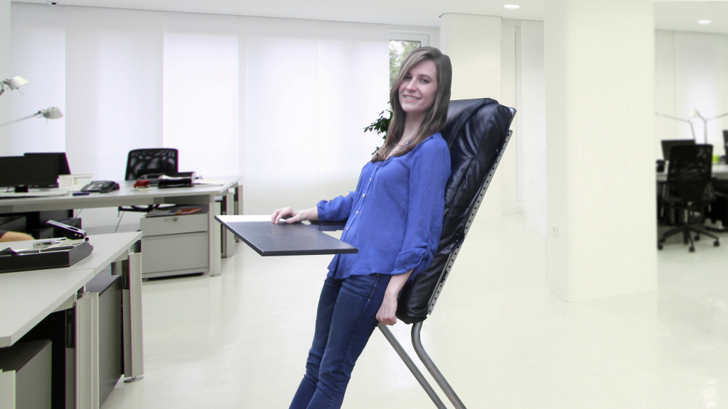 LeanChair: The portable, reclining standing desk project video thumbnail