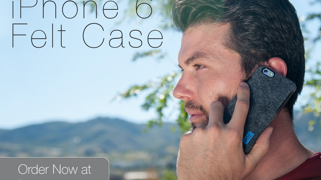 Felt Case for iPhone 6 and iPhone 6 Plus by FŪZ Designs project video thumbnail