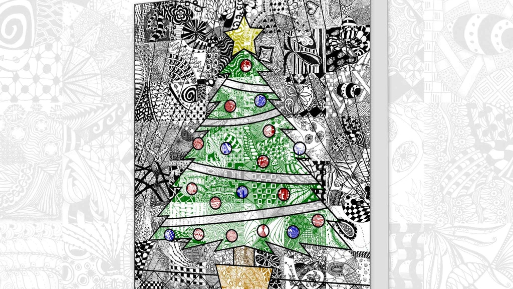 Project image for Zentangle Inspired Holiday Cards for Christmas (Canceled)