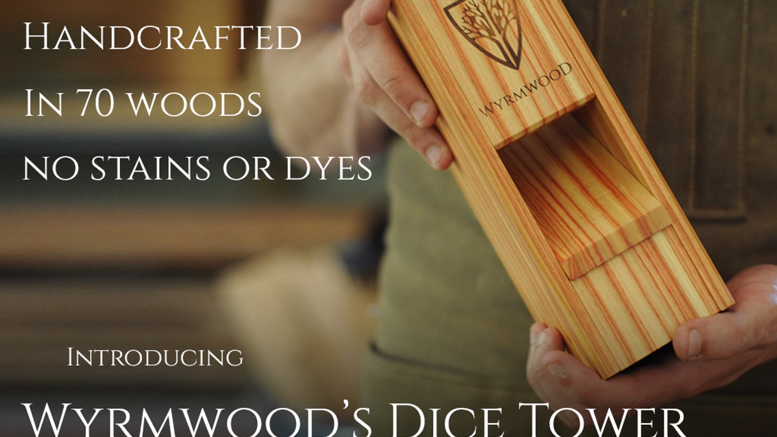 Magnetic Dice Tower System Available at WyrmwoodGaming.com in our Core 16 Woods!