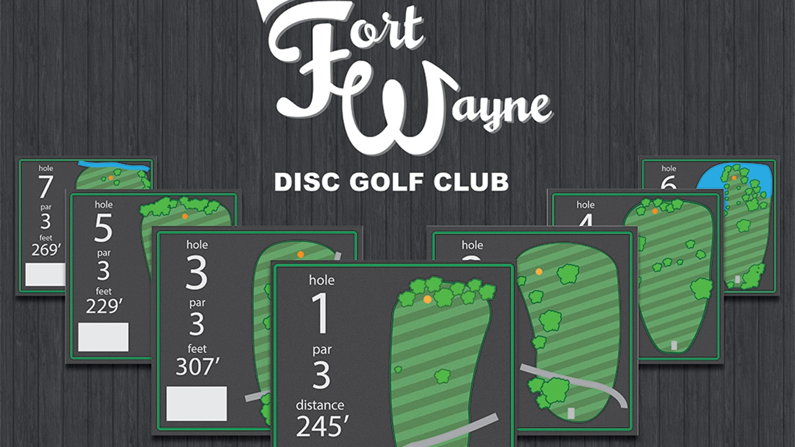 Fort Wayne West Swinney Disc Golf Tee Signs By Jake Shirkey