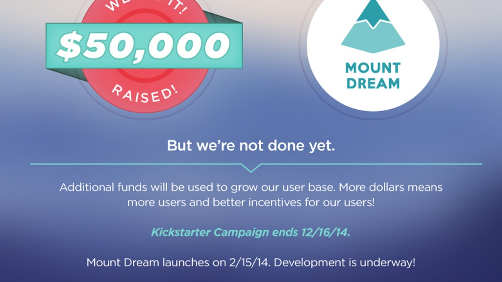 Mount Dream: Test Your $1,000,000 Idea For Just $100! project video thumbnail