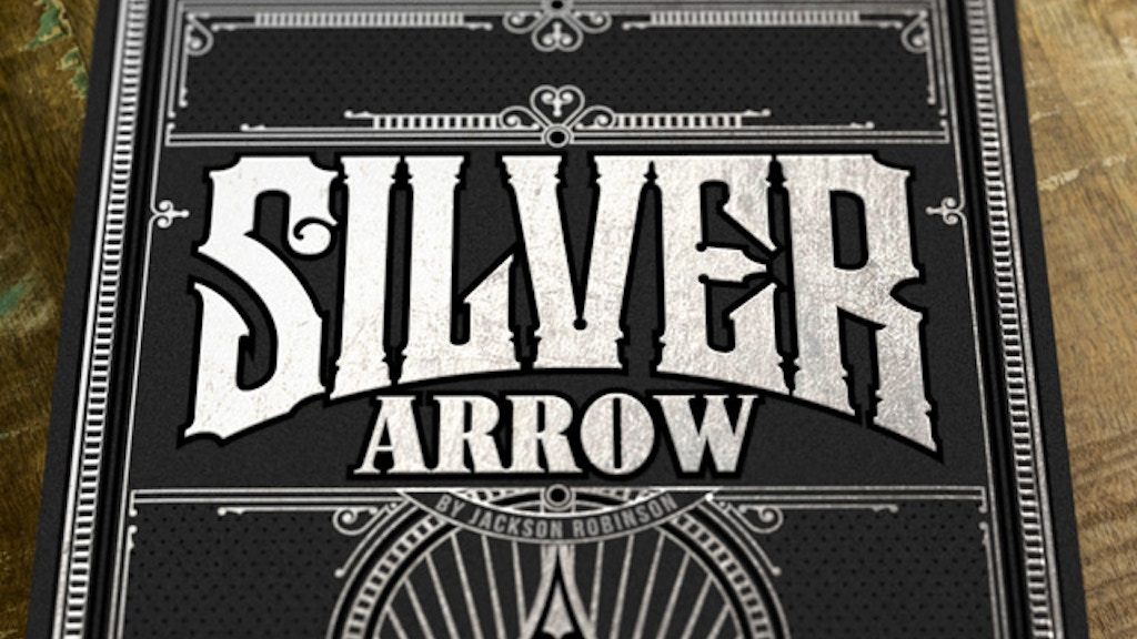 Project image for Silver Arrow, Luxury playing cards by Jackson Robinson