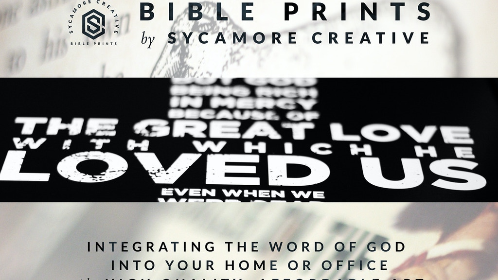 Bible Prints by Sycamore Creative project video thumbnail