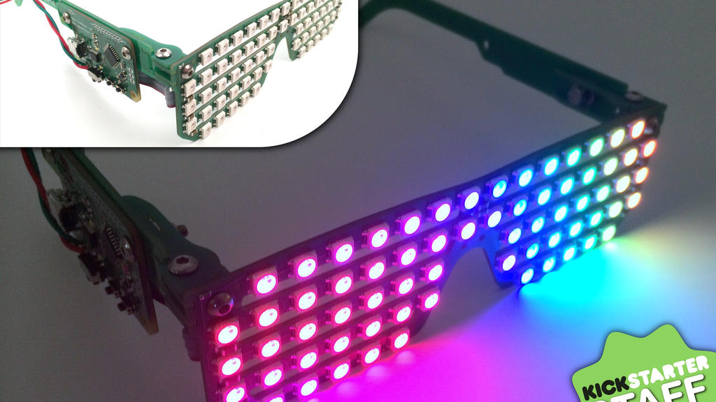 RGB Shades: Programmable LED Glasses project video thumbnail