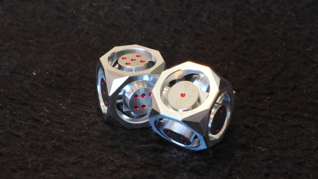 "GeoDice(1/2"" x 1/2"" Metal Dice)- CNC Machined Aluminum Dice project video thumbnail"