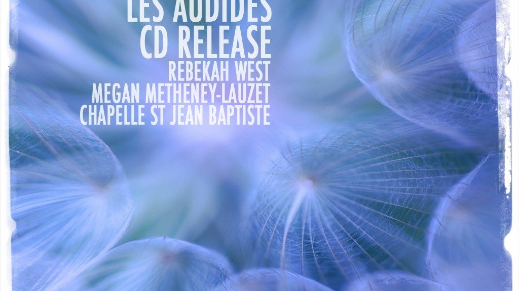 Les Audides sacred music CD, La musique sacrée des Audides project video thumbnail