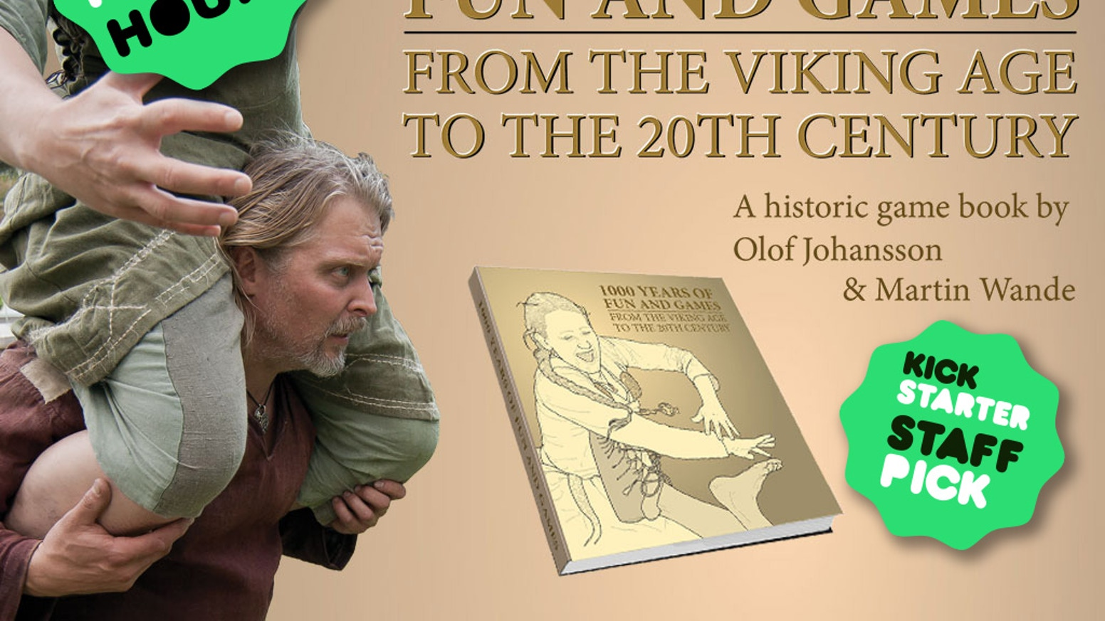 An illustrated historic book of games that go all the way back to the Viking age. Written by two Swedish and playful authors.