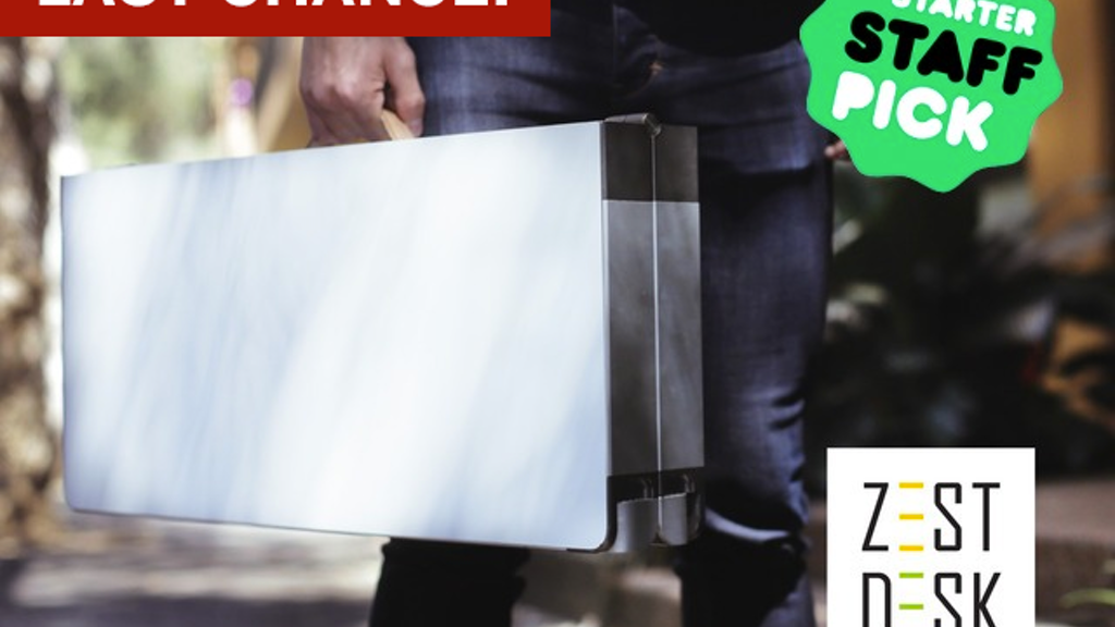 ZestDesk® The world's 1st portable adjustable standing desk project video thumbnail
