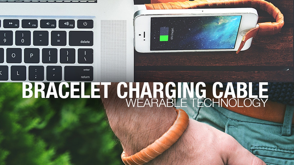 Bracelet Charging Cable - for iPhone & Android project video thumbnail
