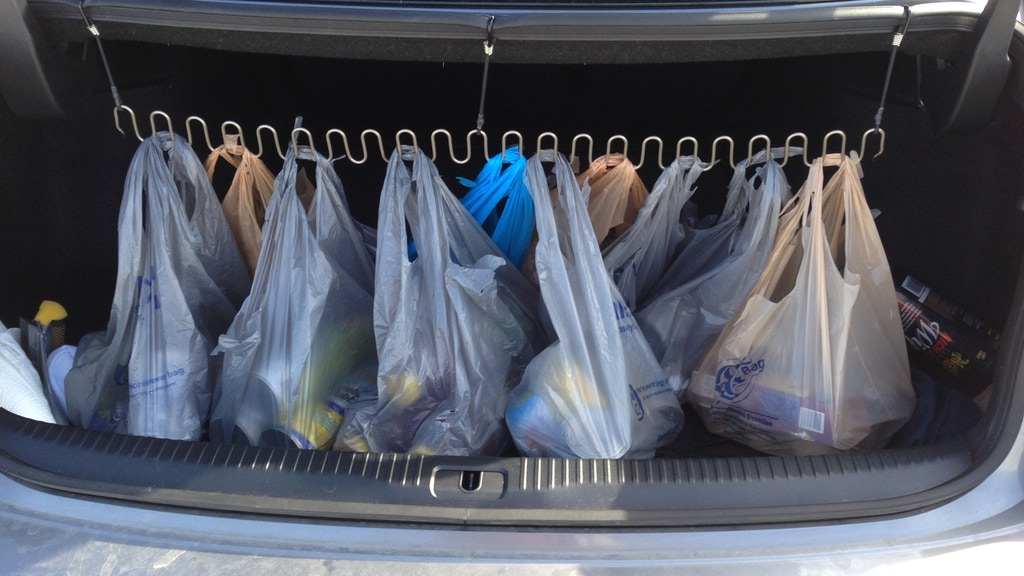 """Project image for """"The Bag Rack"""" - Tired of shopping bags spilling?"""