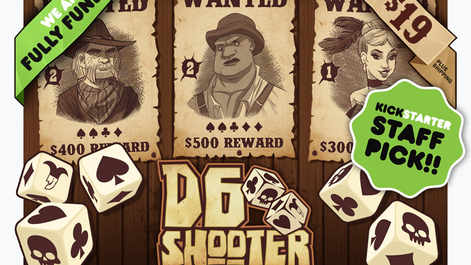 Race against other players & press your luck to wrangle the most bandits to become Marshal. Feelin' lucky? Then roll into D6 Shooter!