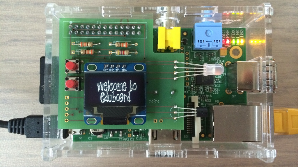 Raspberry Pi Multi Function Board + OLED Display! EduBoard © project video thumbnail