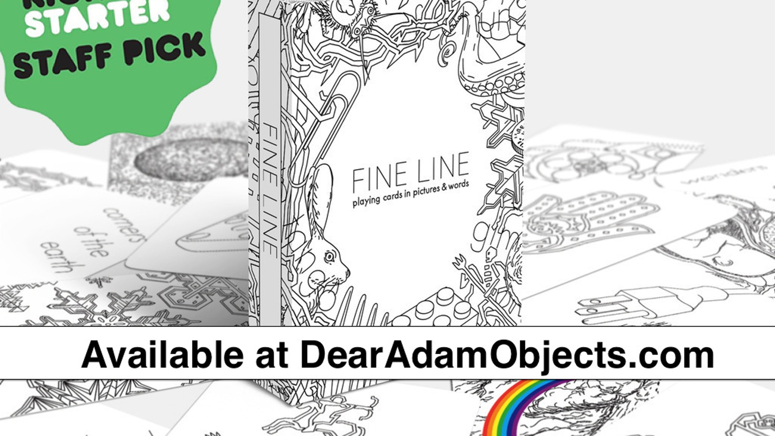 FINE LINE: Playing Cards in Pictures & Words by Adam Farbiarz & Adam