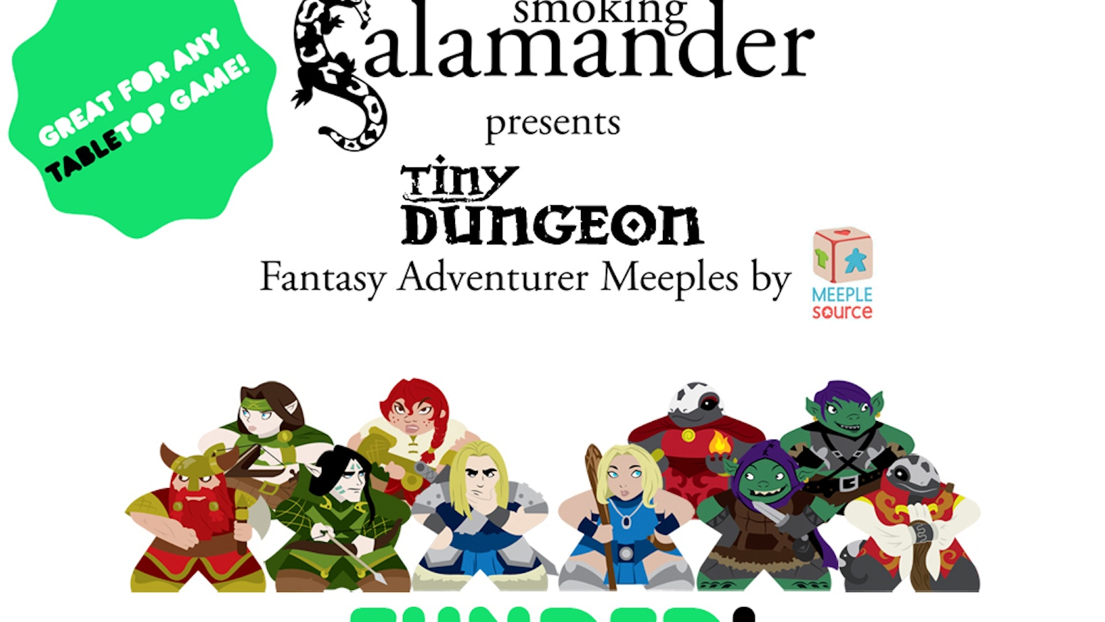Smoking Salamander has teamed up with the Meeple experts at MeepleSource to produce a line of detailed fantasy Adventurer Meeples!