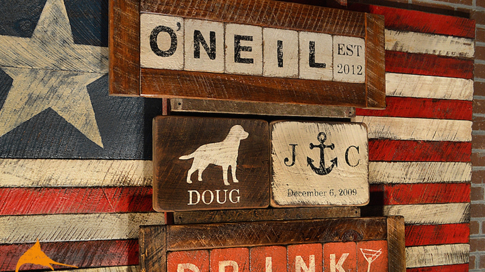 Rustic Marlin Handcrafted Custom Wooden Signs Designs By Brian