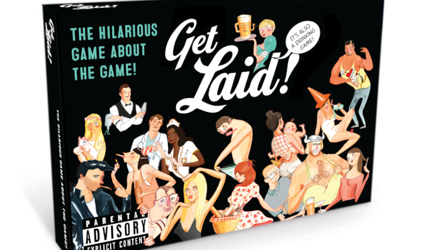 The hilarious game about the game. Which can also be a drinking game. So grab a bunch of friends and prepare to laugh your ass off!