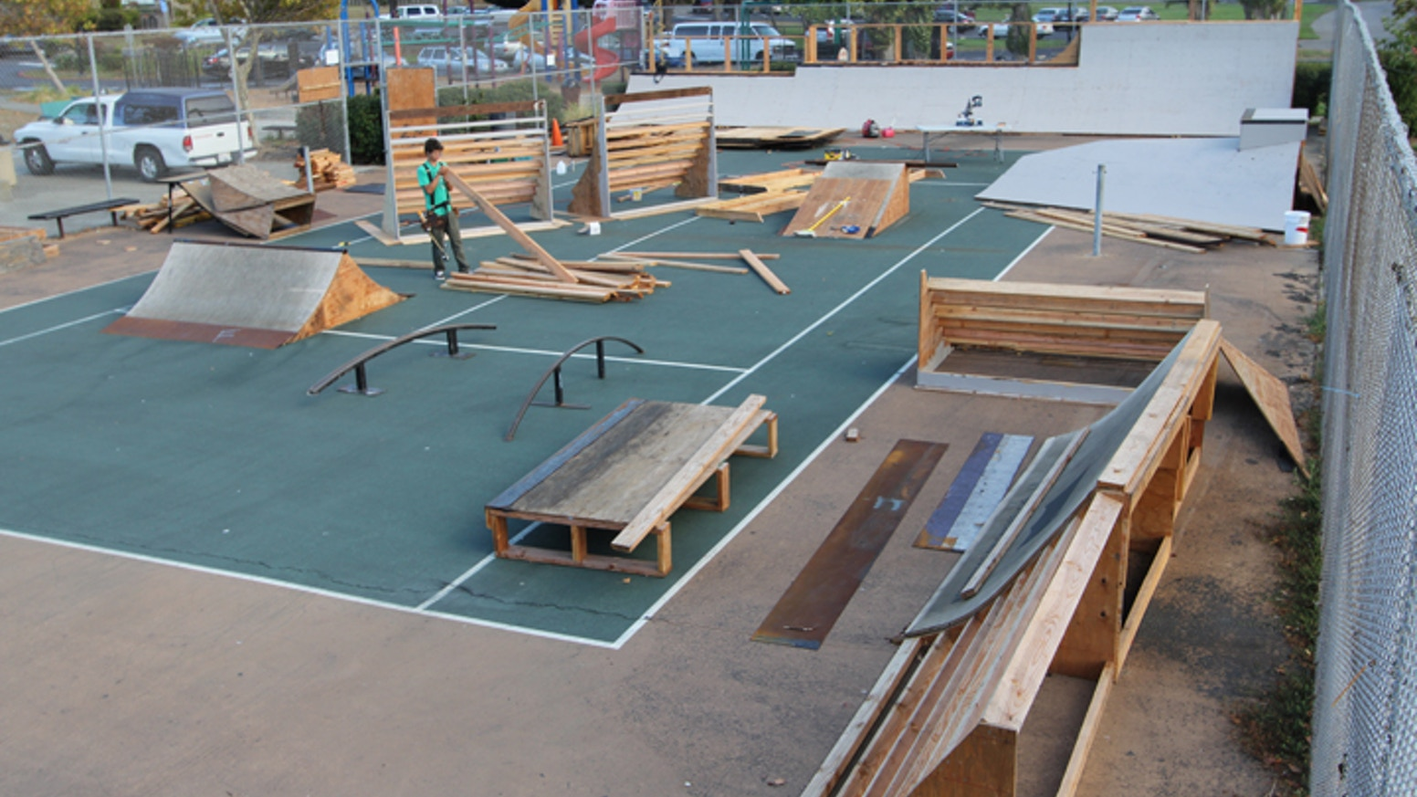 Keith Williams (Hood Gamez) brought in Proof Lab to help raise funds to build a community Art & Skate Park in the unused Marin City tennis courts