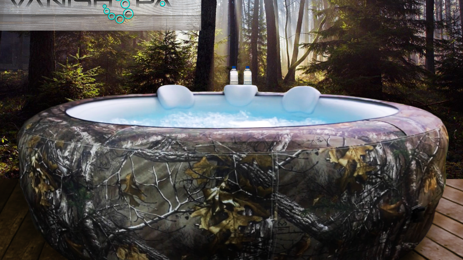 With concealment technology that is versatile and easy to assemble, the Vanish Spa is the most advanced portable hot tub ever created.