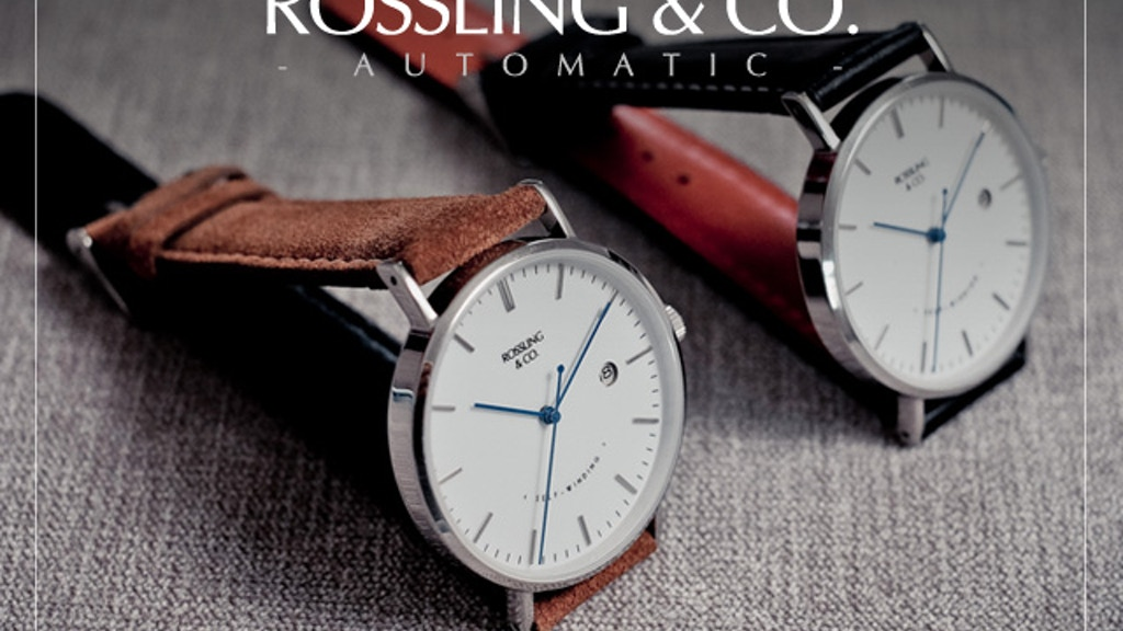 Rossling & Co - Ultra-Thin Automatic Watches & Suede Straps project video thumbnail