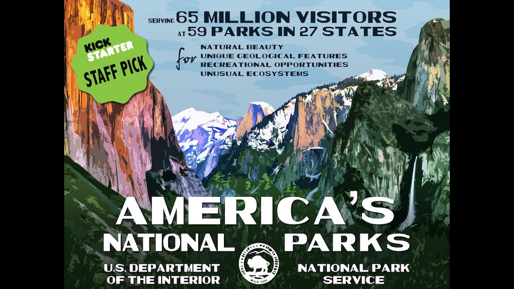 Calendar Typography Gear : The national park poster project by robert decker —kickstarter