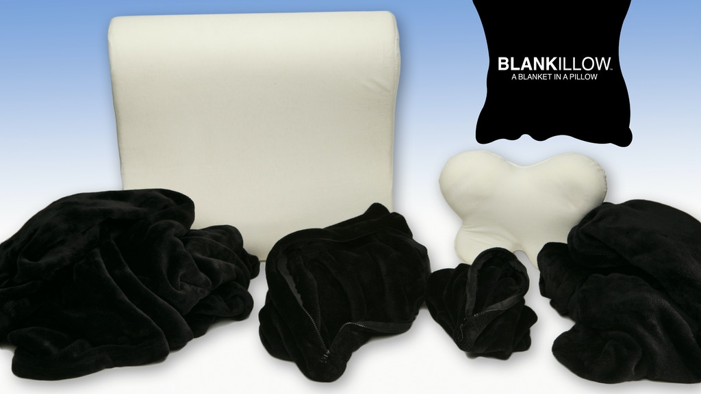 BLANKILLOW, a blanket in a pillow project video thumbnail