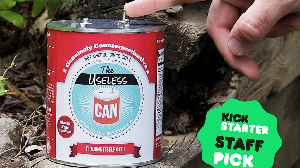 Useless Machine in a Can - Fun Kit for Everyone project video thumbnail