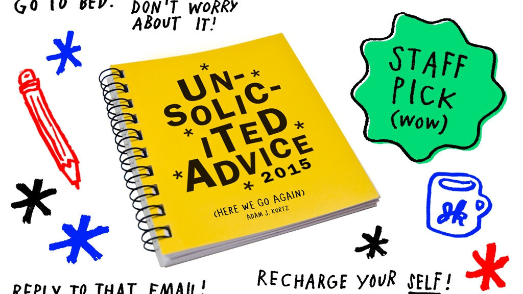 "2015 ""Unsolicited Advice"" Weekly Planner & Journal project video thumbnail"
