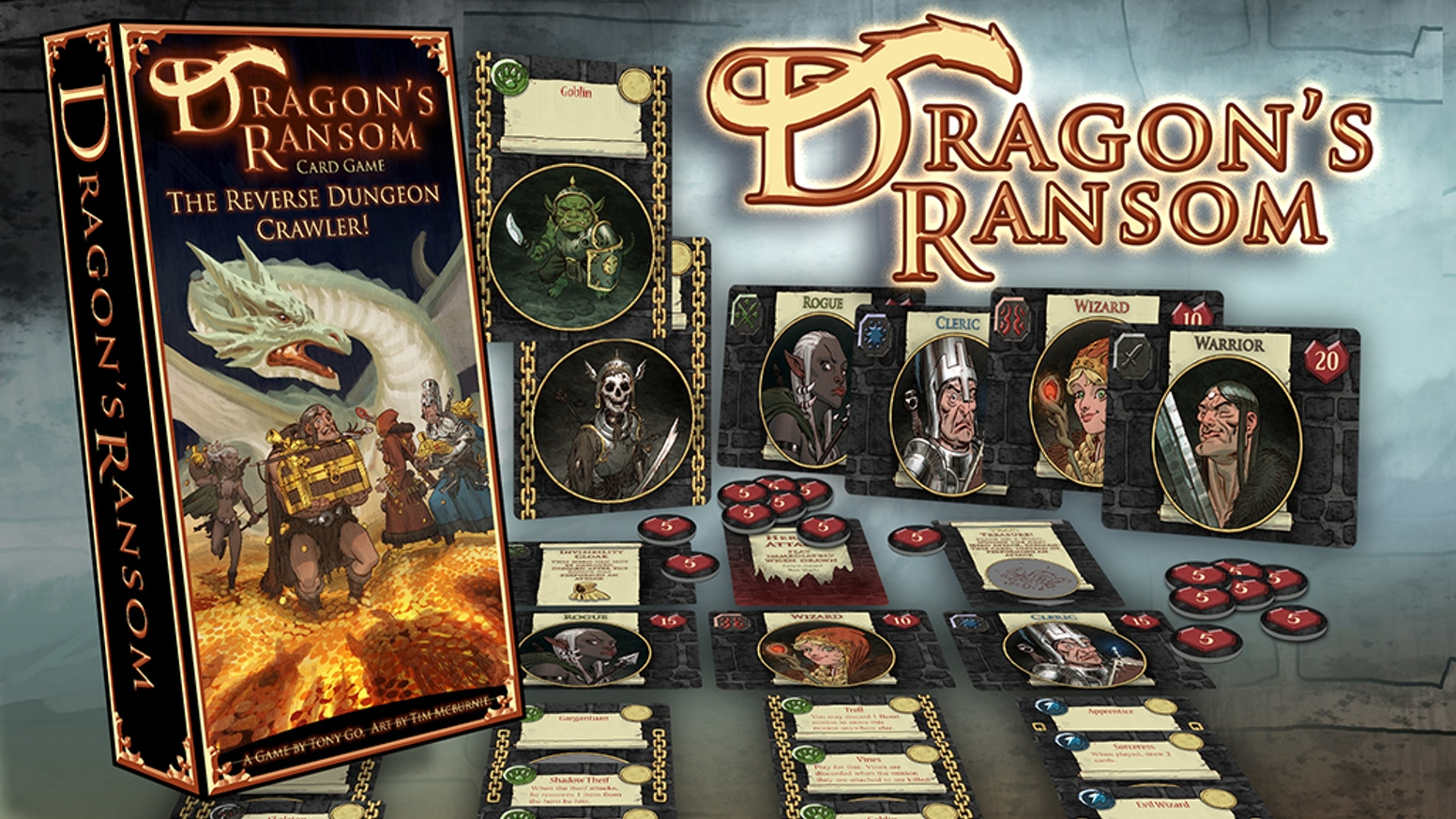 Hark! Heroes have looted the dungeon again! Turn them back in this solo & co-operative fantasy card game for 1 to 4 players.