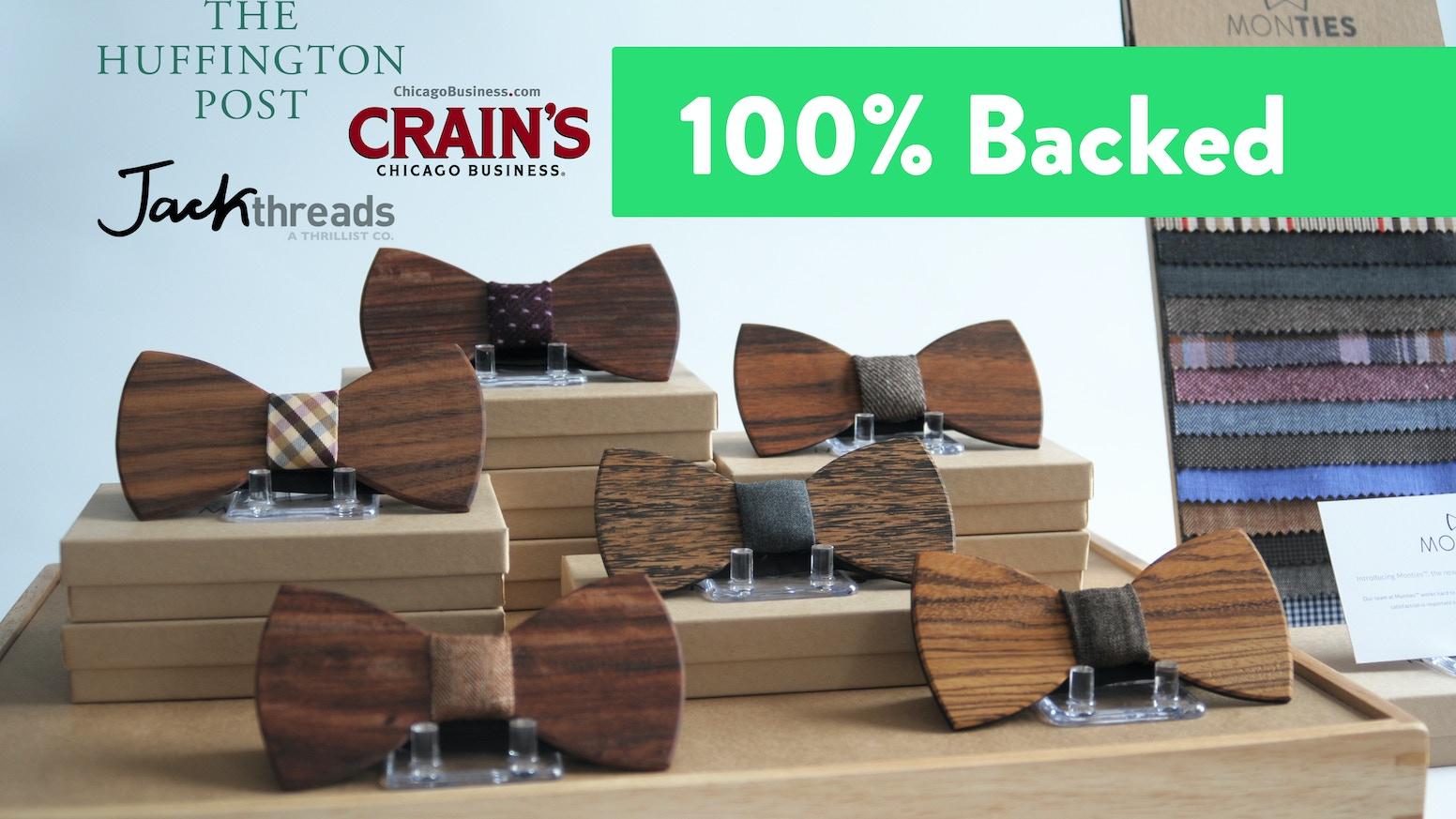 Monties Premium Wood Bow Ties By Shop Kickstarter Tie Tying Diagram