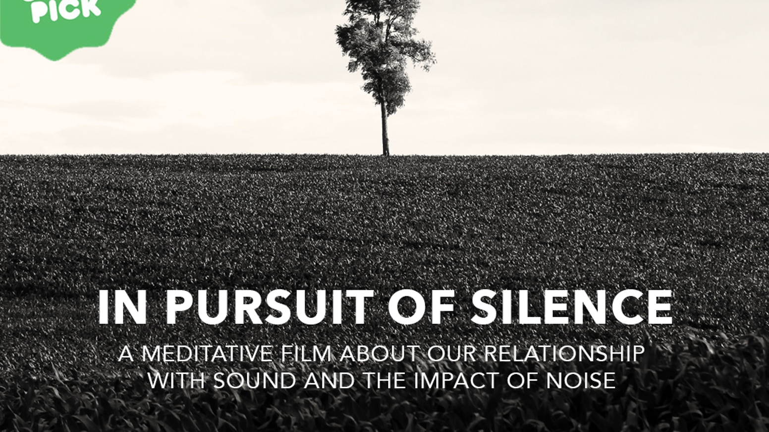 A meditative film about our relationship with sound and the impact of noise on our lives.(name of campaign creator Transcendental Media has changed to Patrick Shen)