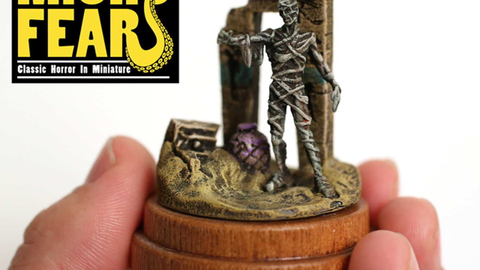 Tiny, highly detailed horror scenes, 3D printed in wax, and cast in beautiful bronze and other fine materials.