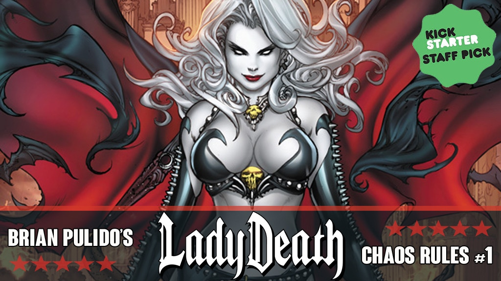 BRIAN PULIDO'S NEW LADY DEATH: CHAOS RULES #1 GRAPHIC NOVEL! project video thumbnail
