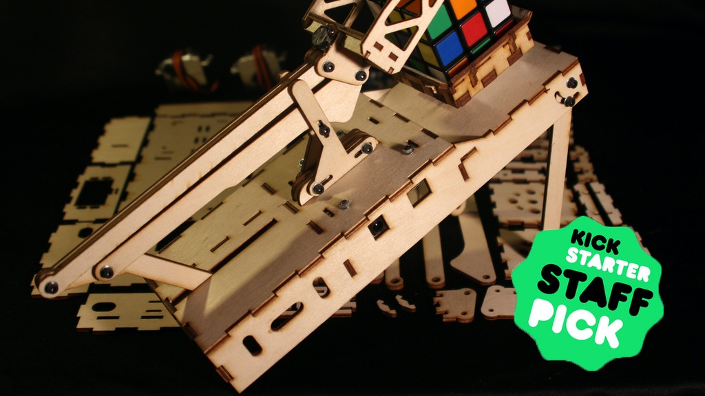 DIY Rubisolver Kit: Build a Rubik's cube solving machine project video thumbnail