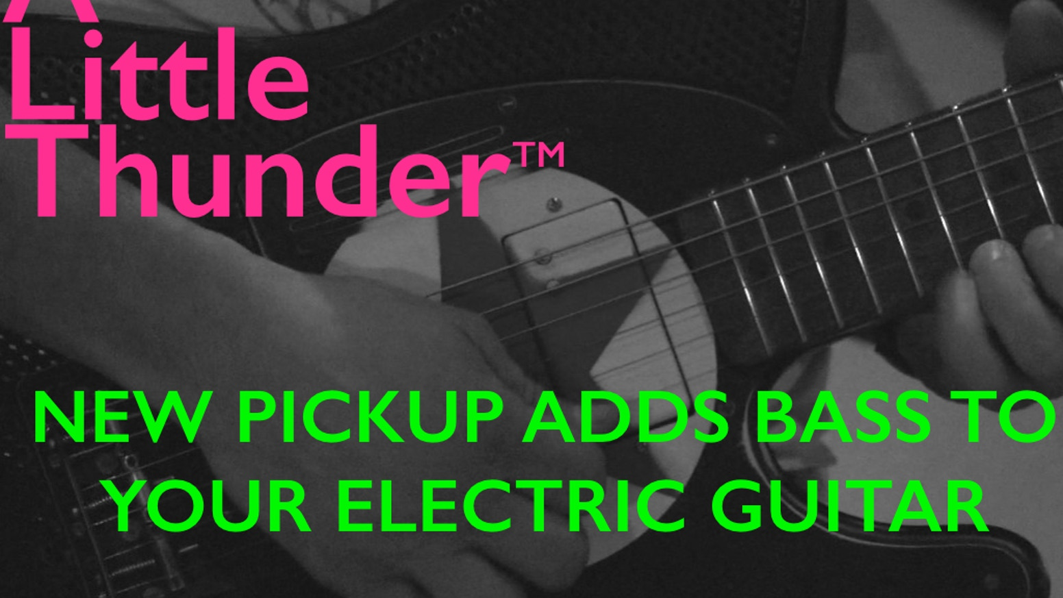Revolutionary Humbucker Pickup adds Bass to Electric Guitars. No routing, 9V, MIDI etc. Seeks to Shake Up Game for All Genres of Music.