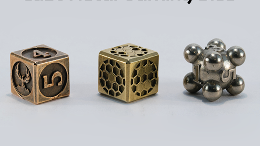 Cast Metal Gaming Dice project video thumbnail
