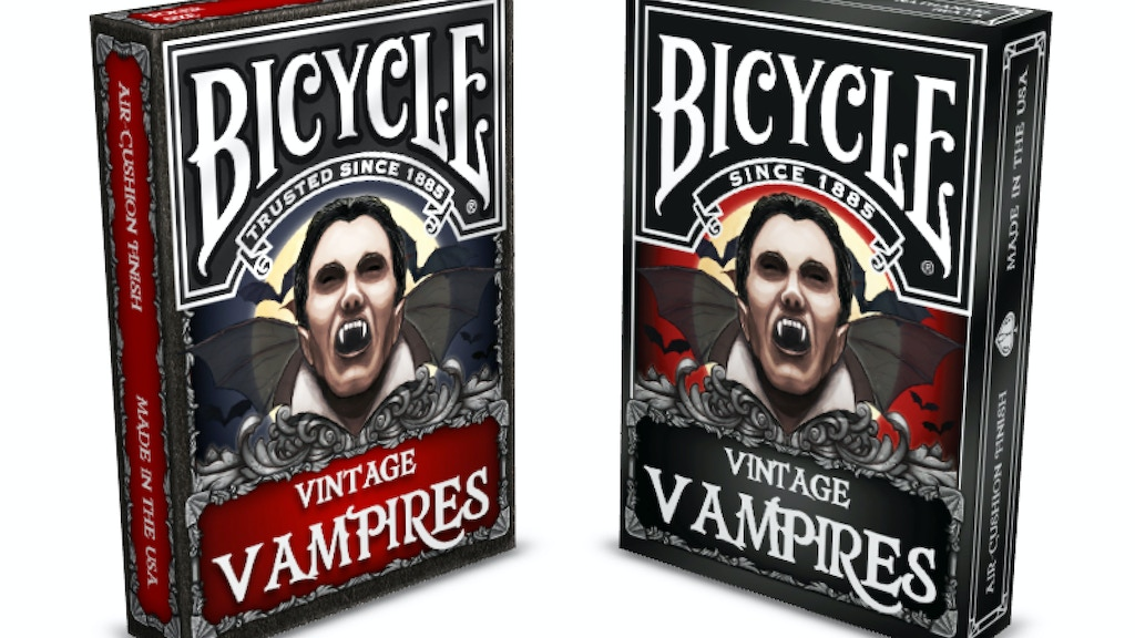 Vintage Vampires Bicycle Playing Cards project video thumbnail